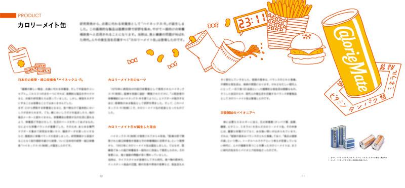 カロリーメイトパンフレット2 D-日本デザインセンター
